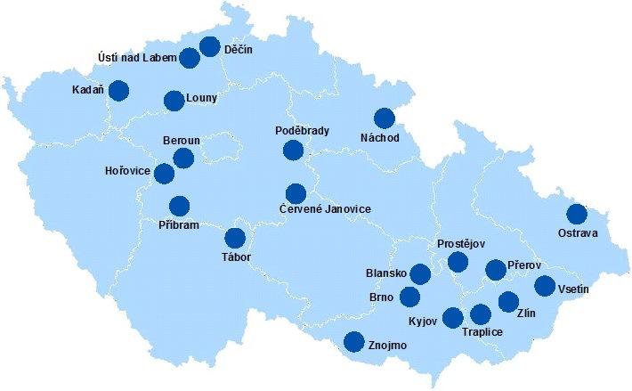 mapa půjčoven